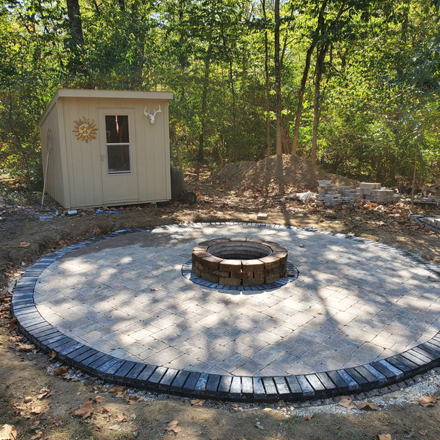 Firepit and paver patio install