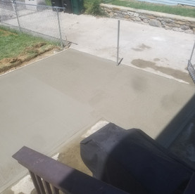 Concrete patio and fence install