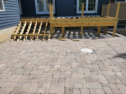 Brussels Block Paver Patio and Trex Deck