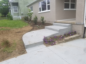 Concrete and landscape install