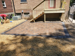 Brussels Block Paver Patio and Deck