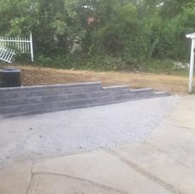 Allan Block retaining wall install