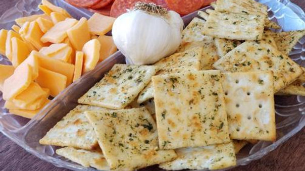 Kickin' Garlic Bacon Fiesta Cracker Mix