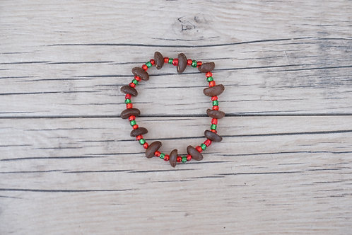 Red/Green Coffee Bean Bracelet
