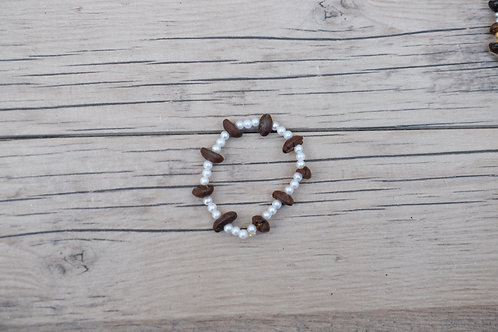 White Coffee Bean Bracelet