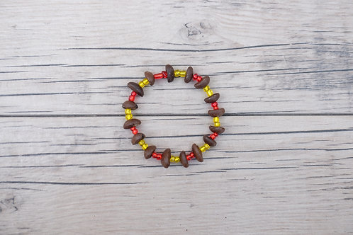 Red/Yellow Coffee Bean Bracelet