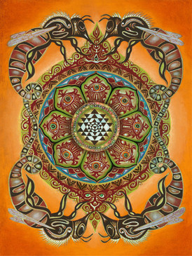 Bee Mandala by Clive Hedger