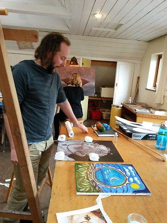 visionary art teacher Daniel Mirante clive hedger