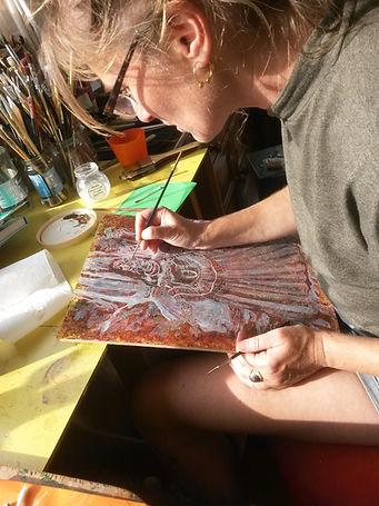 Clive hedger art class