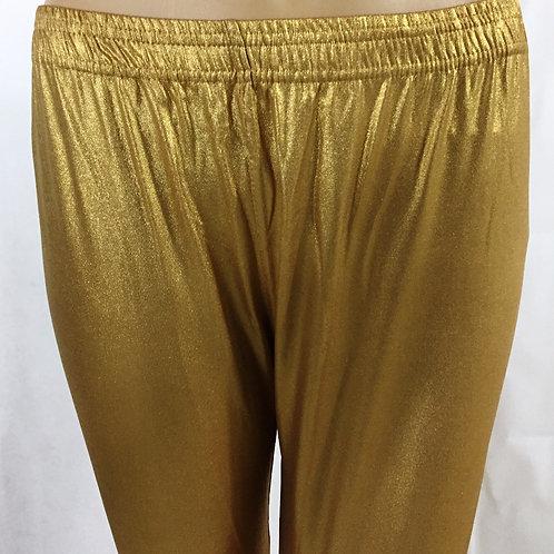 Knitted Free Size Leggings - Golden