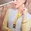 Thumbnail: Printed Rayon Kurta - White & Yellow
