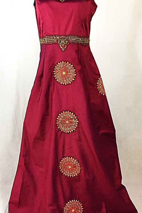 Plum Indo Western Gown