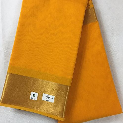 Woven Plain Art Silk Saree with Golden Border