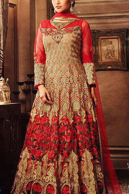 Party wear Kurta set - Bridal Red