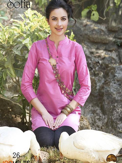 Sofia Cotton Kurta Pink