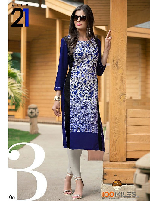 Club 21 Printed Cotton Kurta