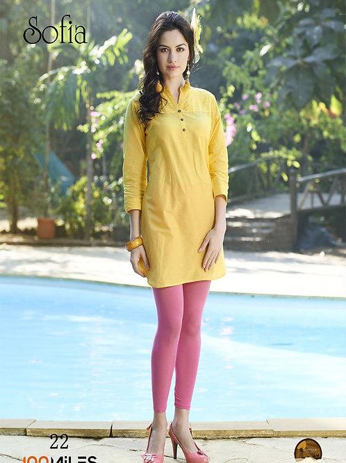Sofia Cotton Kurta Yellow