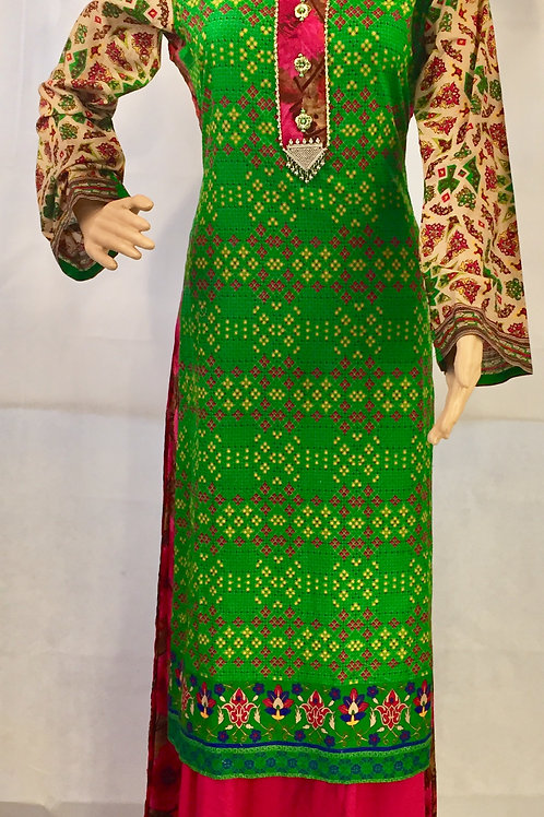 Party wear Kurta - Green