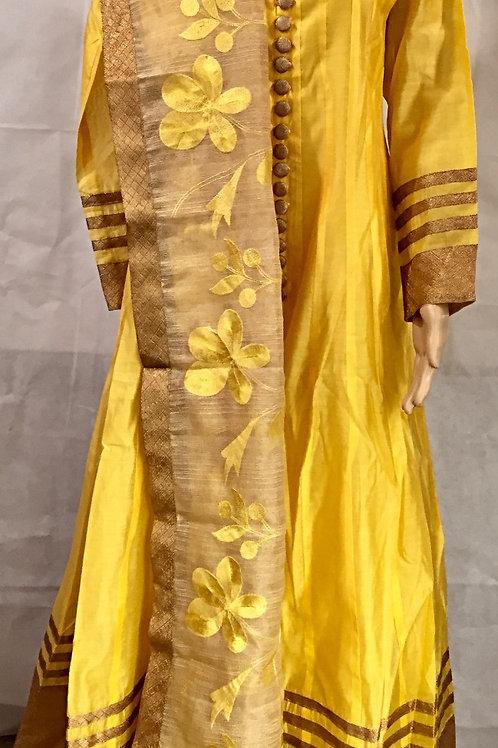 Party wear Kurta set - Yellow
