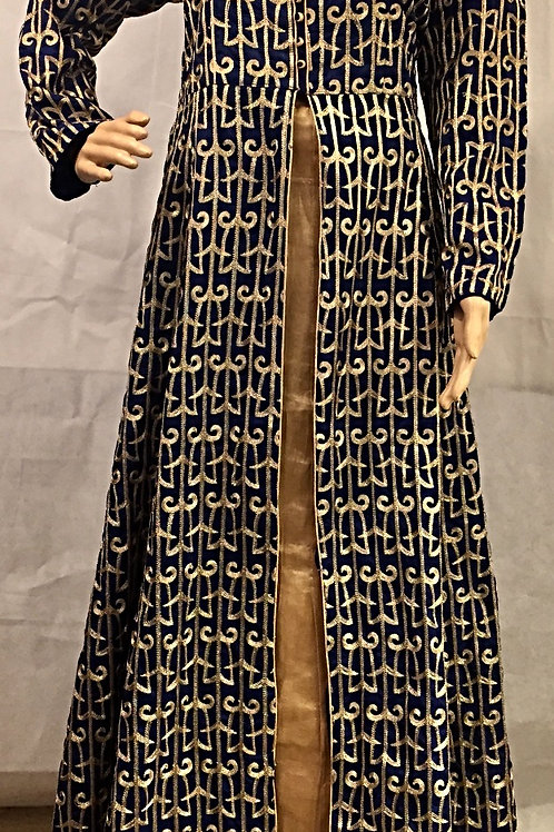 Party wear Kurta style lehenga set - Navy Blue