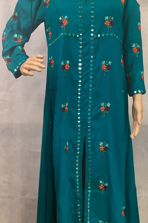 Party wear Kurta - Sea Green