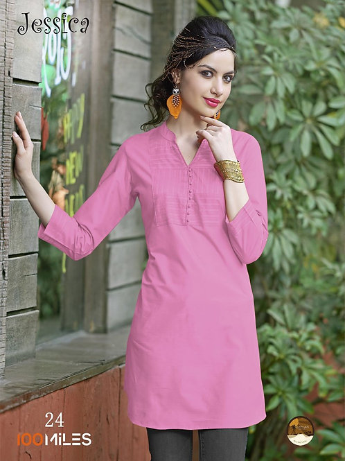 Jessica Cotton Kurta Pink