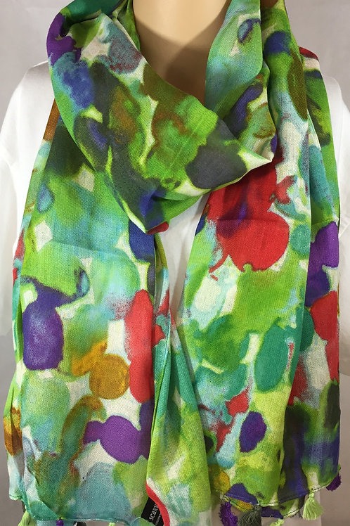 Hand dyed Printed Scarves