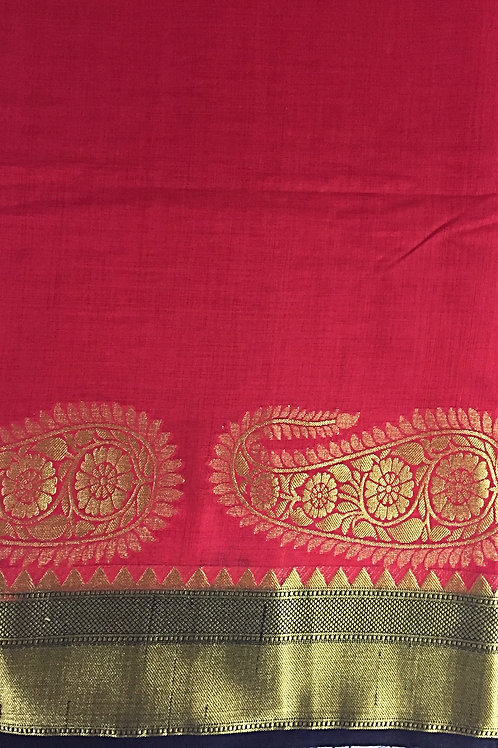 Kanchipuram Saree with Big Motifs Border