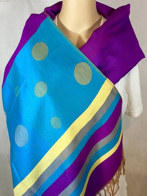 Dyed Yarn Pashmina Stole