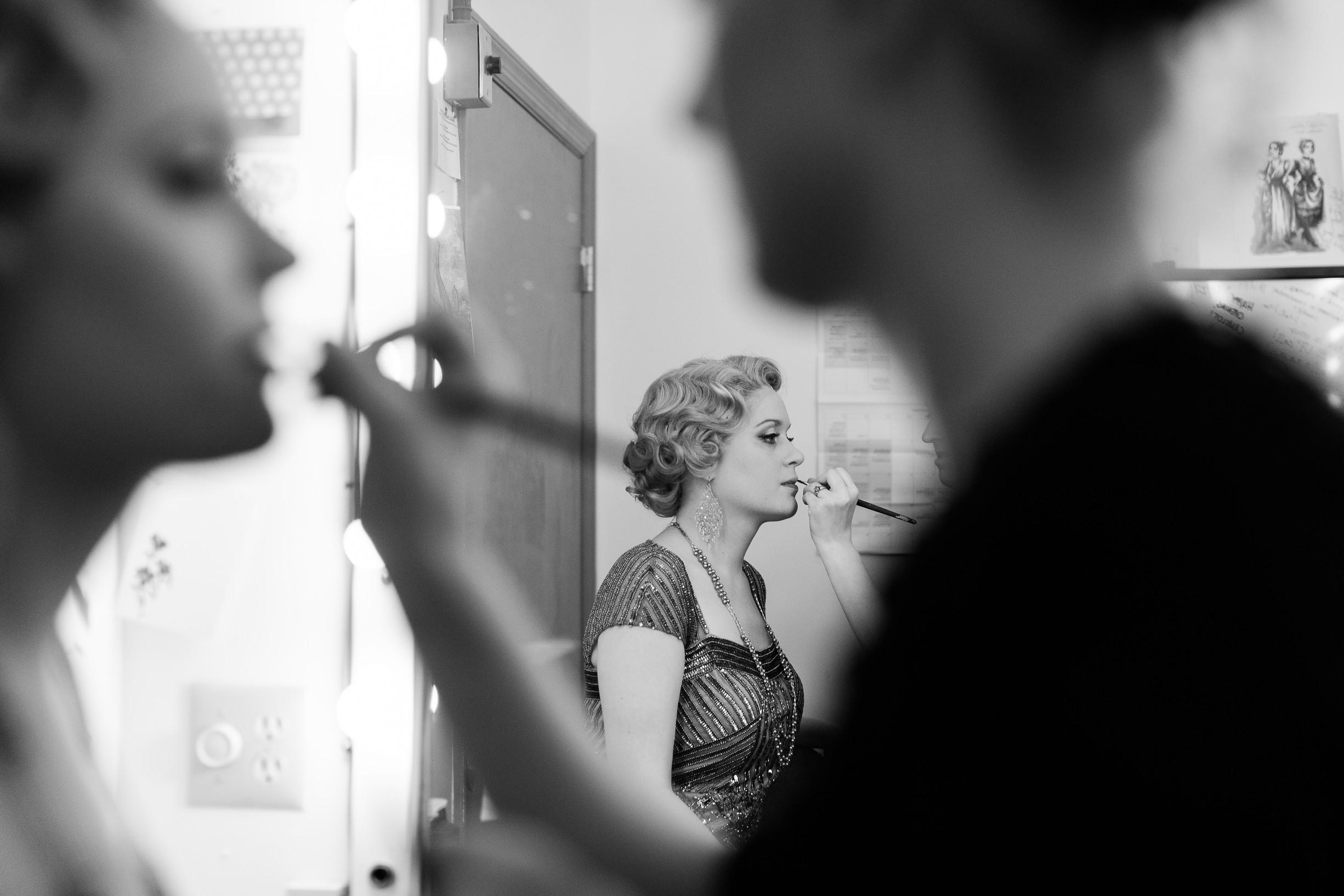 Sondra Finchley backstage