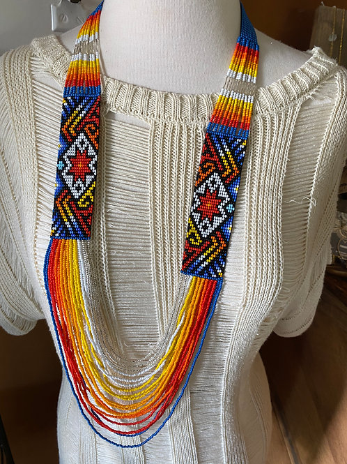 Colombian Beaded Loop Necklace