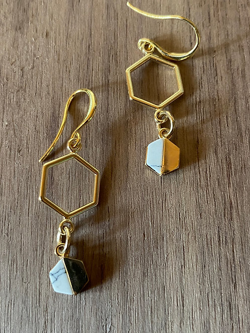 Double Honeycomb earrings