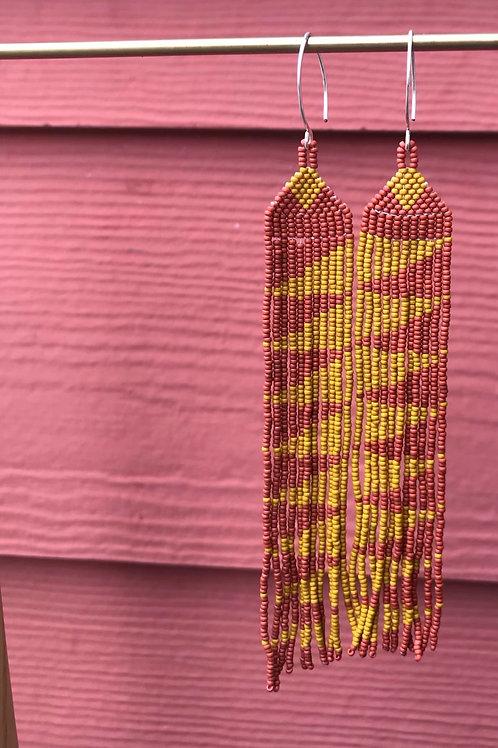 Zigzag Beaded Earrings