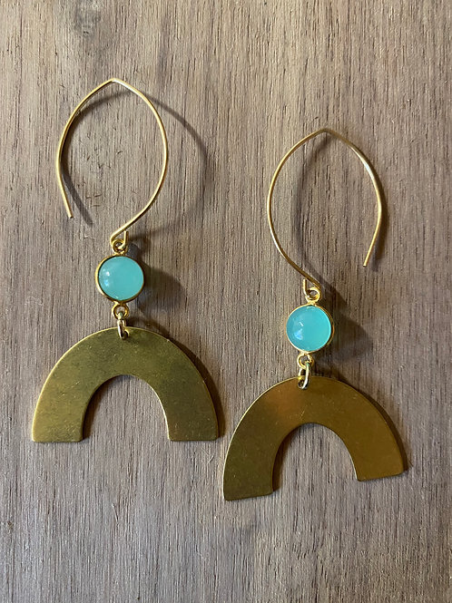 Chalcedony Rainbow Earrings