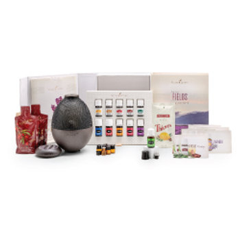 Premium Young Living Starter Kit with Rainstone Diffuser