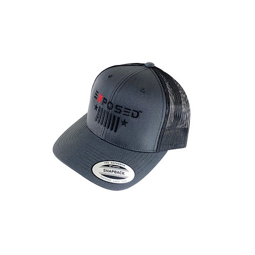 8-00-9518 - EXR Gray Exposed Jeep Trucker Hat
