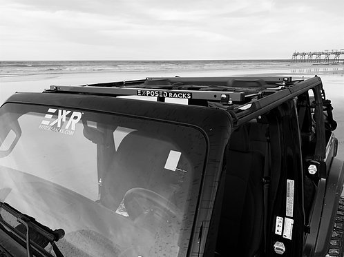 UNDER Soft Top Blk Roof Racks 2018-Present Jeep Wrangler JLU (4dr)