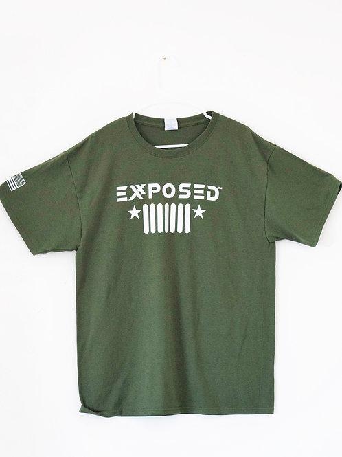 8-00-9512 - EXR Mil. Green EXR Jeep T-Shirt (Mens)