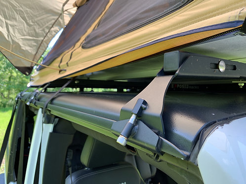 NO DRILLING Blk TENT Roof Racks 2007-2018 Jeep Wrangler JKU (4dr) Hard Top