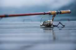 fishing-rod-spinning-blurred-background-