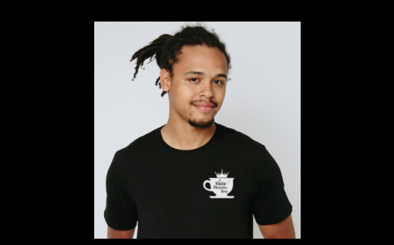 men black tea-shirt