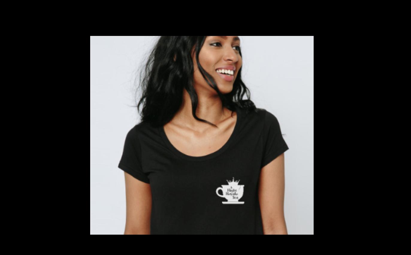 women black tea-shirt