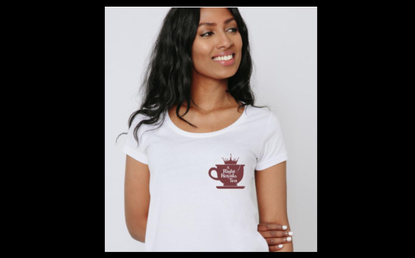 white tea-shirt