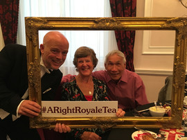 Lord Right with guests at the Amba hotel Charing Cross