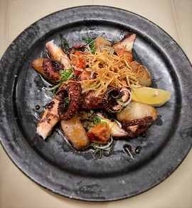 "This week: ""Oktopus roast à la Yu-An""  w"