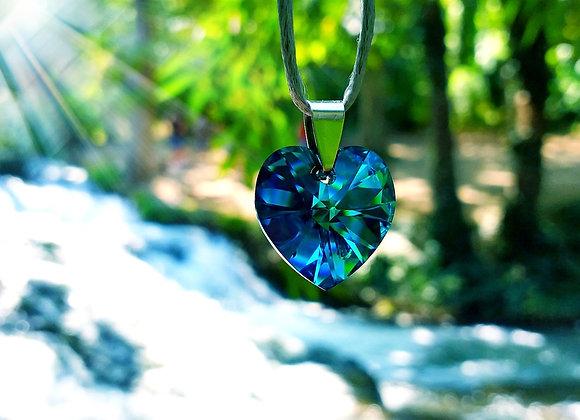 COLGANTE CORAZON AZUL /PENDANTE BLUE HEART