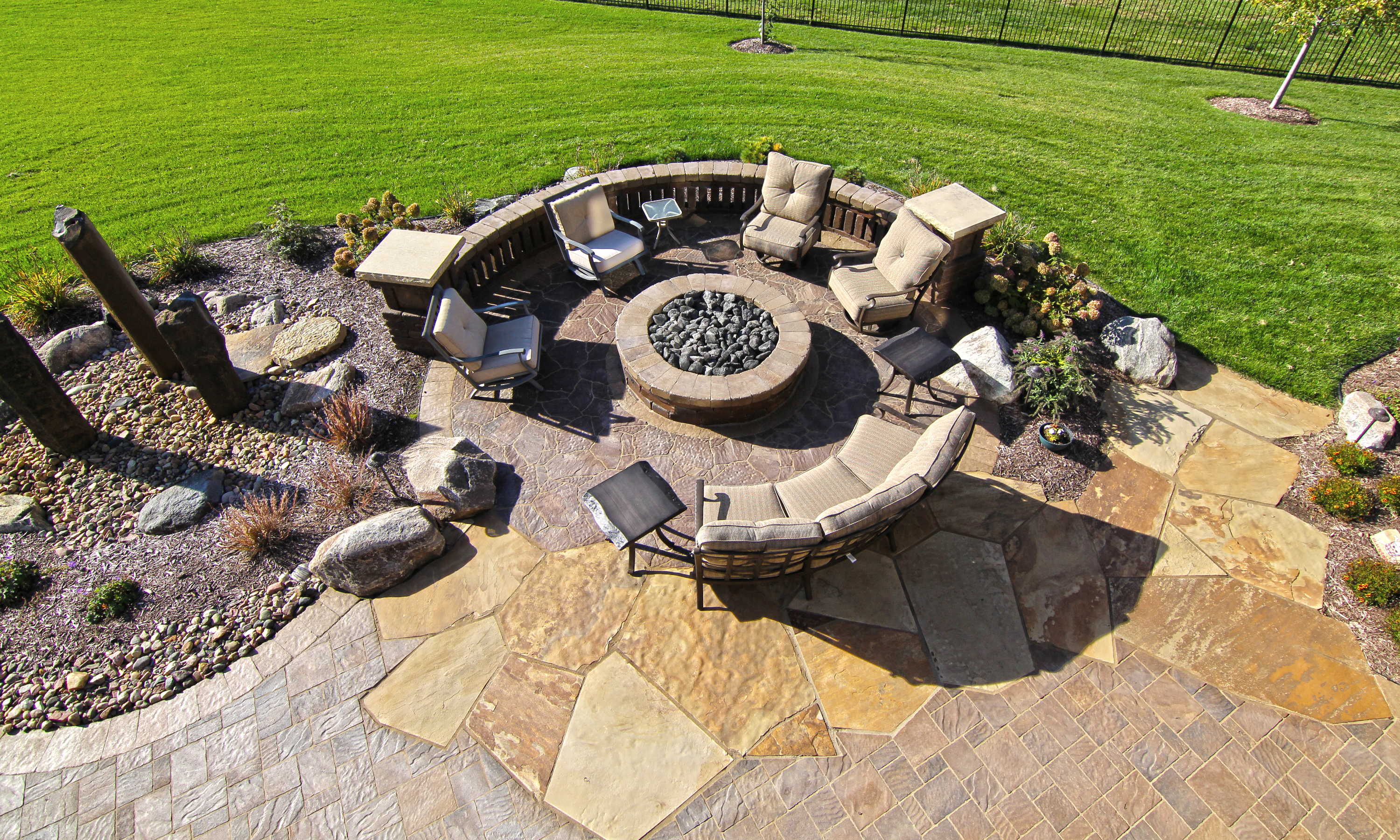 Weston Stone Fire Pit Area