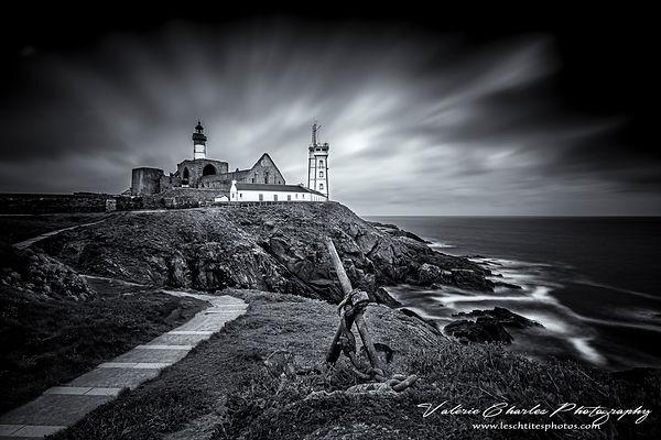 Pointe st mathieu, Bretagne, Noir et Blanc