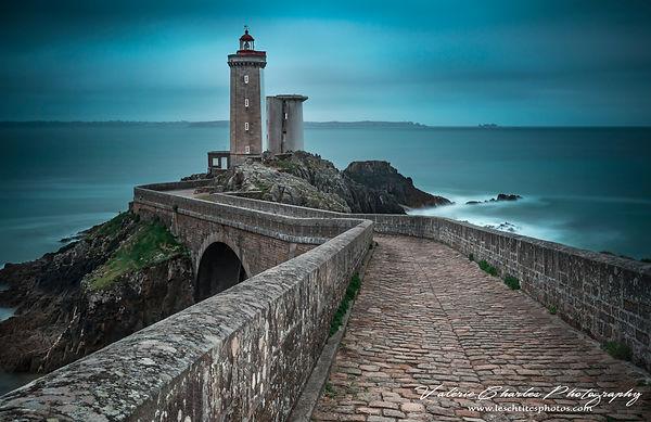 Phare du petit minou, Bretagne, serie blue tone