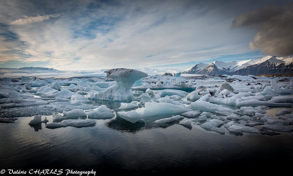 jokulsarlon lake iceland , islande glacier
